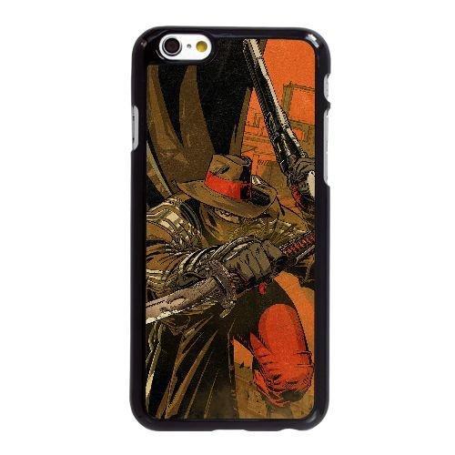 F6Z82 acier rouge O5G6BW coque iPhone 6 4.7 pouces cas de couverture de téléphone portable coque noire KV7URQ9NL