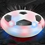 GOOD SMARK Kids Air Soccer with Foam Bumpers and LED Lights Boys Girls Sport Children Toys Training Football Indoor Outdoor Disk Hover Ball Game - Best Gift for Kids
