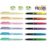 Pilot highlighter FriXion, erasable 12 Stück neon | pastell