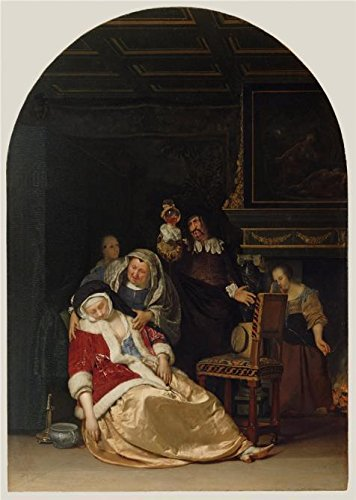 Oil Painting 'The Doctor' s Visit, 1667 By Frans Van Mieris The Elder' 8 x 11 inch / 20 x 29 cm, on High Definition HD canvas prints is for - Is Blizzard Open Beach