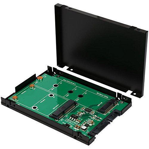 "M.2 B-Key or mSATA SSD Dual Connector to SATA III 2.5"" Enc"