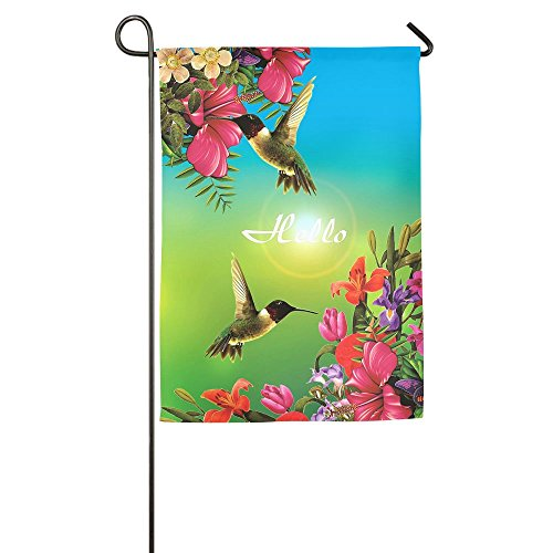 Hummingbird Logo Garden Flag House Banner 1827inch Decorative Flag For Wedding Party Yard Home Indoor Outdoor Holiday Decor (Dallas Stars Halloween Party)