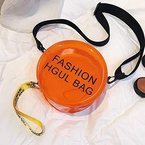 WSLMHH Sac Transparent marée Femme Mode Sauvage été Petit Sac Paquet Liquide épaule gelée Messenger Bag Orange