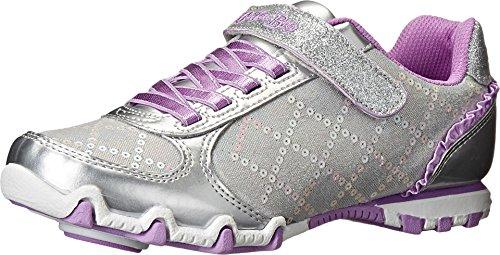 Skechers Kids Prima Athletic Shoe (Little Kid), Silver/Lavender, 4 M US Little (Skechers Kids Bella Ballerina)