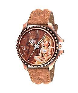 Espire Analogue Brown Dial Hanuman Watches For Boy's {Ew_041}