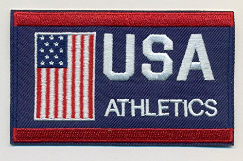 (Atlletics Team USA Embroidered Iron-On Patch Size 4