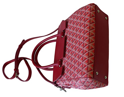Lancaster Tasche Ikon Petit Sac Cabas 518-48-ROUGE Damen Leder Handtasche, Henkeltasche, Schultertasche Umhängetasche Rot (25cm x 21cm x 12cm)