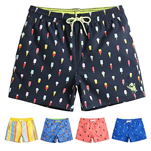 MaaMgic Boys Kids Cute Short Swim Trunks 7T Boardshorts Quick Dry Swim Suit with Drawstring (Boys Swim Trunks Size 7)