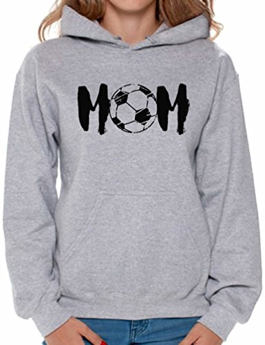 (Awkward Styles Women's Soccer MOM Mothering Graphic Hoodie Tops Black Sport Mom Grey XL)