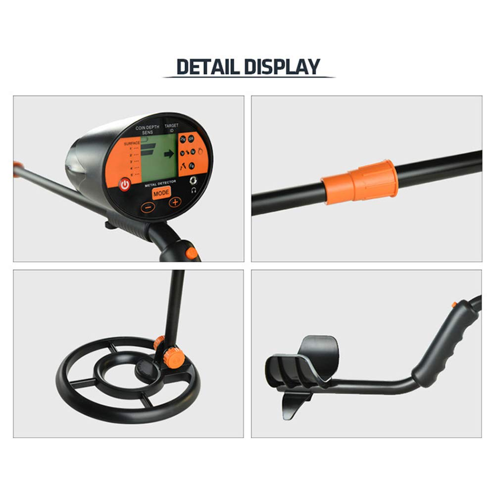 Amazon.com : wedigout Metal Detector with Pinpointer Waterproof Search Coil Digging Tool, LCD Display(MD-3060) : Garden & Outdoor