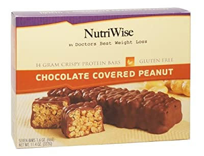 NutriWise - Chocolate Covered Peanut Diet Protein Bars (7 bars)