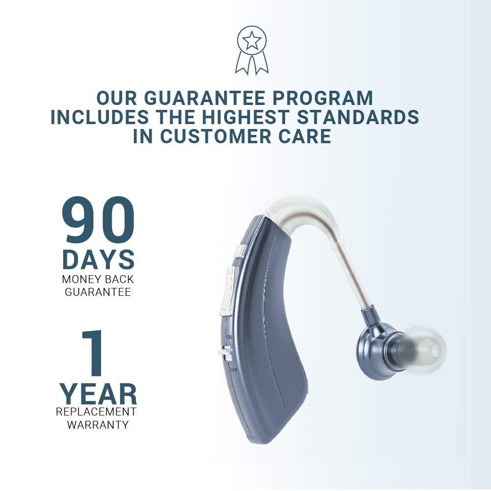 Britzgo Digital Hearing Aid Amplifier Bha-220, 500hr Battery Life,''fda Approved'', Blue, Blue, 5 Ounce by Britzgo