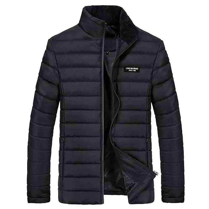 Cappotto Uomo ASHOP Lungo Inverno Trench Coat Giacca A Manica Lunga  Imbottita da in Tinta Unita ab2204aa505