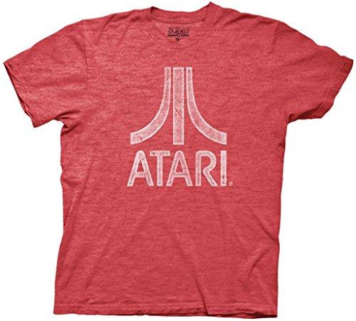 Atari Distressed Logo Adult Red