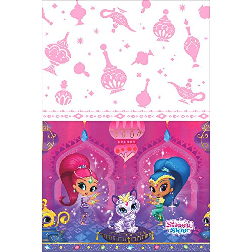 Ultimate Shimmer&Shine Party!!!Birthday Party Decoration Supply Bundle Pack with 16lg&16sm Plates 16-9oz Cups, Matching Table Cover&Jumbo Banner,50 Napkins(Bonus Matching Party Straw Pack) by Everyday Party Bundles (Image #4)