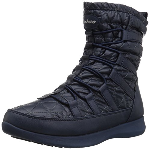 Ladies Boulder (Skechers Women's Boulder Winter Boot, Navy, 11 M US)
