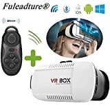 Fuleadture VR Box 3D VR Virtual Reality Headset Head Mount Display Video Games VR Glasses Adjust Cardboard for 3.5-6.0