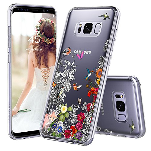 size 40 067c9 615e5 Galaxy S8 Plus Case, Galaxy S8 Plus Cover, MOSNOVO Floral Flower Garden  Humming Birds Clear Design Back Case TPU Bumper [Drop Protection]  Protective ...
