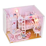 OHQ Friends&Me Little Pink Room for Sisters , with Wardrobe Kitty Table Luggage Dresser Lamp Bunk Bed Flower, Creative Birthday