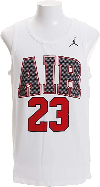 NIKE Jordan Air 23 Camiseta de Tirantes, Hombre, Blanco, Medium: MainApps: Amazon.es: Ropa y accesorios