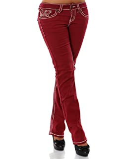 H922 Damen Bootcut Jeans Hose Damenjeans Hüftjeans Gerades Bein ... 9ad30cf74b