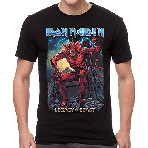 Global Iron Maiden Unisex Legacy Beast T-Shirt,Black,Large