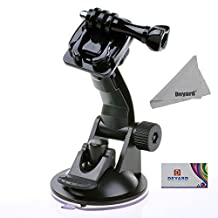 DEYARD Suction Cup Mount for Gopro HD Hero1 Hero2 Hero3 Hero3+ Hero4 Hero 5 Hero4 Session Hero 5 Session + Deyard LCD Cleaning Cloth
