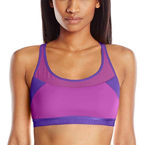 Under Armour Women's Compression Fit Mid Breathe Sports Bra (Medium) Magenta