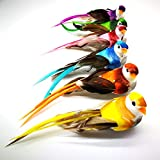 lwingflyer 12pcs Artificial Simulation Foam Birds