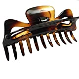 Parcelona French Large 5.5 Inches Celluloid Tortoise Shell Claw Jaw Hair Clip