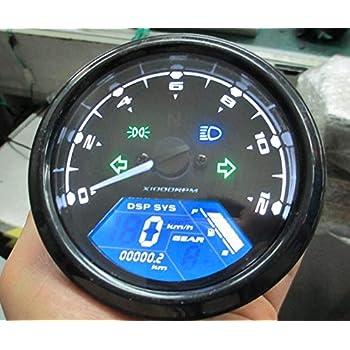 Reddragonfly - 199 km/h 12000 rpm LCD Digital Sdometer Tachometer  on