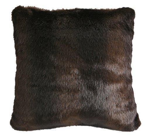 Carstens Brown Bear Faux Fur Pillow