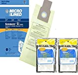 kenmore upright 50690 - 10 Kenmore Type U Allergen Filtration Vacuum Bags for Kenmore Vacuums, 50105, 50688, 50690 Includes (4) CF-3 Motor Chamber Filters