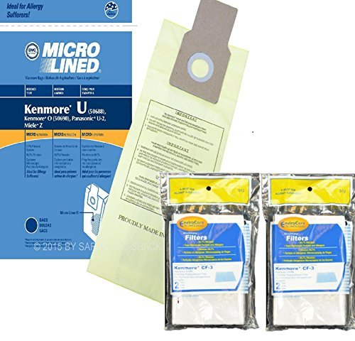 10 Kenmore Type U Allergen Filtration Vacuum Bags for Kenmor