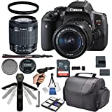 Canon EOS Rebel T6i DSLR Camera with 18-55mm f/3.5-5.6 IS STM + 32GB Card + Photo Accessory 17 Piece Bundle