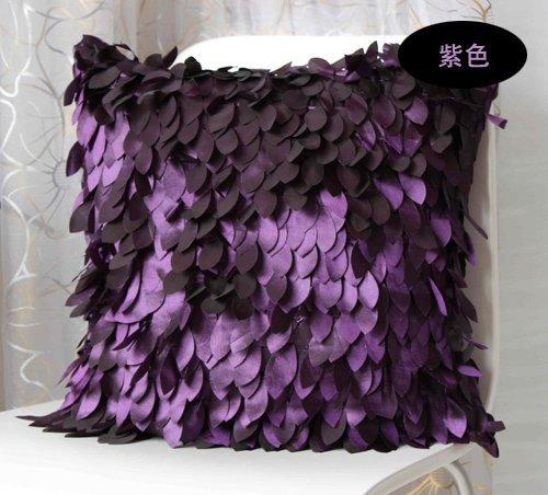 HOMEE Art Pillow Sofa Cushion Continental Creative Arts Pillow,Purple,4343Cm by HOMEE