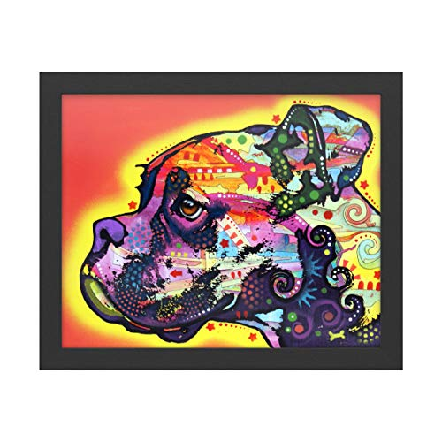 Trademark Fine Art Profile Boxer by Dean Russo, Black Frame 16x20, Multi-Color
