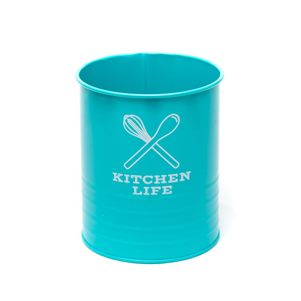 Kitchen Utensil Holder by Dolcer Life | Kitchen Design - Utensil Crock - Kitchenware | Make your life sweeter. | Turquoise