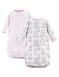 Hudson Baby Baby-Girls Baby Wearable Safe Sleep Long Sleeve Cotton Sleeping Bags