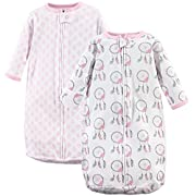 Hudson Baby Wearable Safe Long Sleeve Cotton Sleeping Bag, 2 Pack, Dream Catcher, One Size