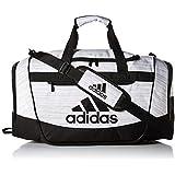 adidas Defender III Duffel Bag, White Two Tone/Black, Medium