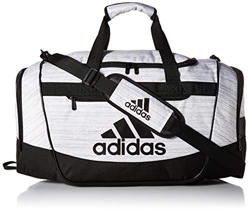 - adidas Defender III Duffel Bag, White Two Tone/Black, Small