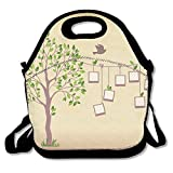 Kooiico Memories Tree With Photo Frames Insert Your Photos Into Frames Best Lunch Tote Lunch Bag Office Mid-sized