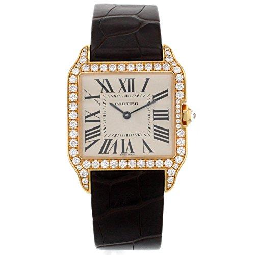 Cartier Santos Dumont WH100351 Factory Diamond 18K Rose Gold Quartz Ladies Watch Cartier 18k Wrist Watch