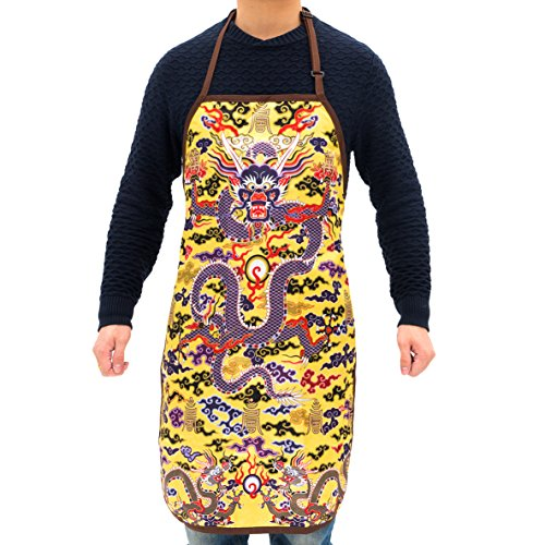 The Palace Museum Cultural Products Apron Emperor Cooks for You Durable String Adjustable Machine Washable Waterproof (Emperor)