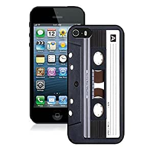 Black Silicone Case for Iphone 5s Audio Cassette Designs Iphone 5 Rubber Cover