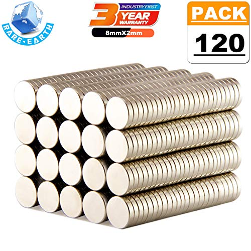 120PCS Round Magnets For Refrigerator Magnets Decoration Office Kitchen Refrigerator Magnets Fridge Magnets for Whiteboard Magnets for Dry Erase Board (A/8x2mm)