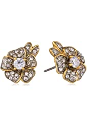 Juicy Couture Pave Flower Stud Earrings