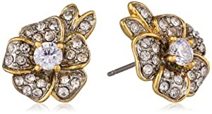 Juicy Couture Pave Flower Stud Earrings