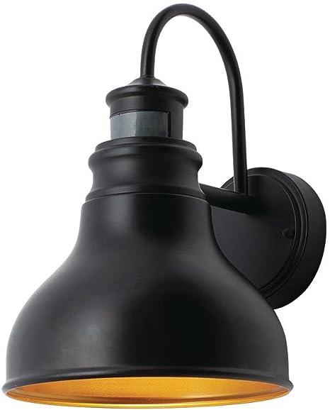 Home Decorators Collection Oil Rubbed Bronze Outdoor Led Motion Sensor Wall Lantern Amazon Com